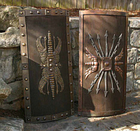 Gladiator and Roman Shields
