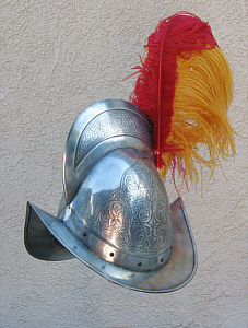 morion helmet with